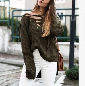 🆕️ SIMPLY VERA LACE-UP SWEATER